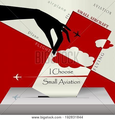 Creative banner with ballot box - I choose small aircraft