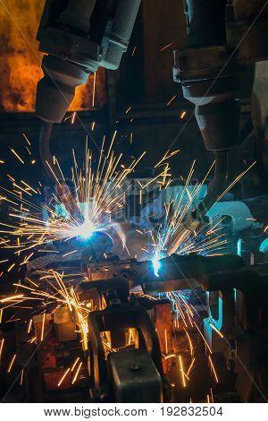 Robot welding is test run welding program
