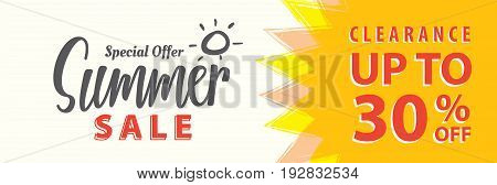 Summer Sale Set V.5 30 Percent Heading Design For Banner Or Poster. Sale And Discounts Concept. Vect