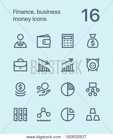 Outline Finance, business, money icons for web and mobile design pack 1