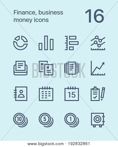 Outline Finance, business, money icons for web and mobile design pack 2