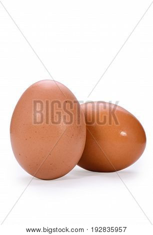 Egg isolated on white background with cilpping path.