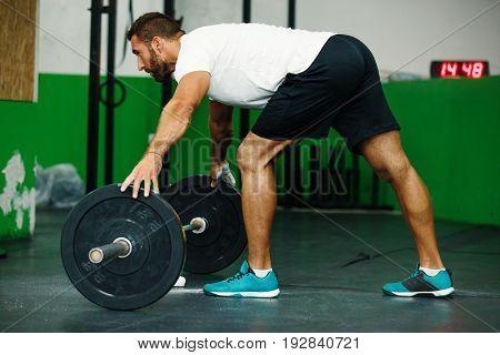 Fit Man On Training