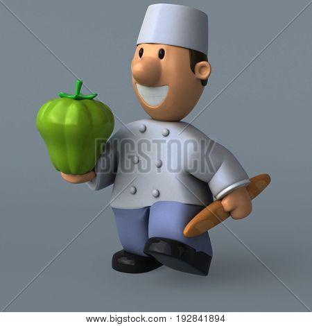 Cartoon baker - 3D Illustration