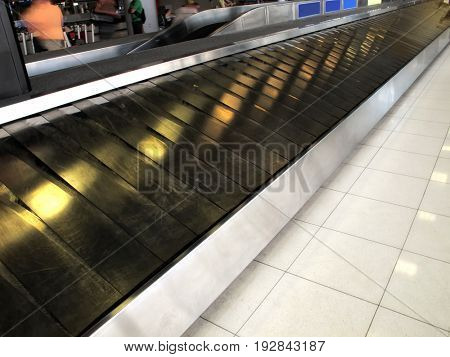 close up baggage claim area in airport