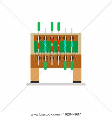 Icon of table football. Soccer, competitor, activity. Board games concept. Can be used for topics like leisure, entertainment or competition