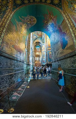 Church Of The Savior On Spilled Blood. Interior.