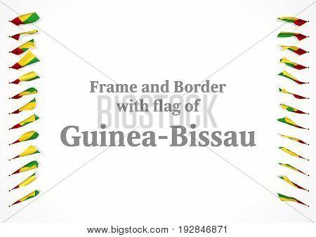 Frame And Border With Flag Of Guinea-bissau. 3D Illustration