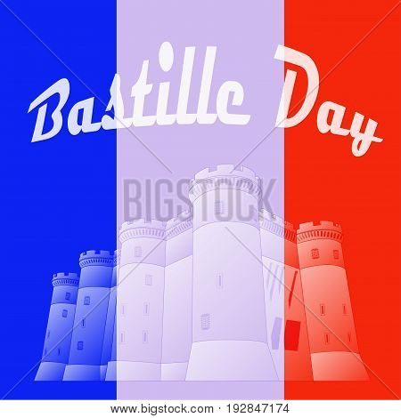 Day of the Bastille. National holiday of France.