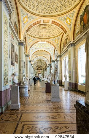 Interior Gallery Of Ancient Art, The State Hermitage Museum, St. Petersburg, Russia