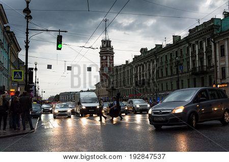 White Night, Night Traffic On Nevsky Prospect