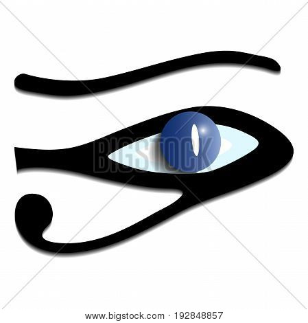 Eye in the form of a dolphin.Dolphin-shaped eye