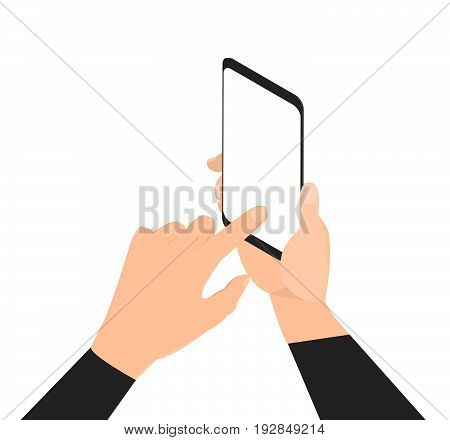 Video streaming on smartphone.Isometric illustration. Watch online videos poster suitable for infographics, presentation or advertising. Vector illustration.