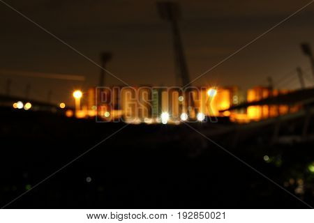 Blur of the city at night. Bokeh of light at night.