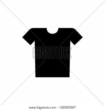 Simple icon of t-shirt. Clothing, sportswear, summer wear. Clothes concept. Can be used for topics like shopping, dressmaking, style