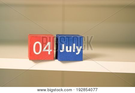 4th of July, the US Independence Day, place to advertise, light  background, American holidays, United States of America, calendar, figures, square, wallpaper