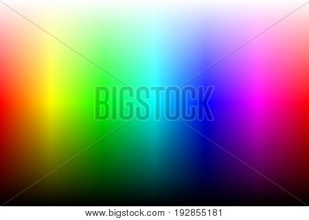 Color spectrum with brightness. Two variation gradient or gradient mesh. Vector
