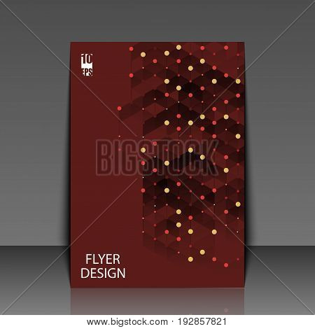 Template Flyer With Abstract Background. Eps10 Vector Illustration