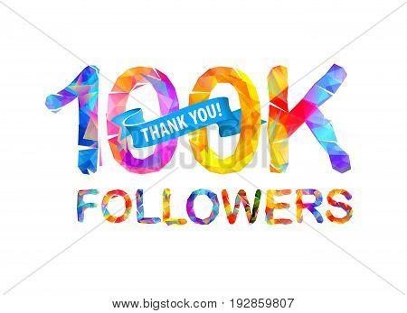 100K Followers. Thank You!
