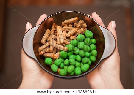 Sharp nuts with wasabi. Crackers with spices. Beer snacks.