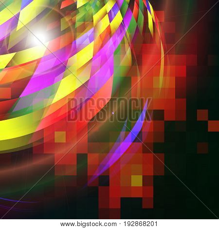 Abstract hi - tech colorful background. Vector illustration.