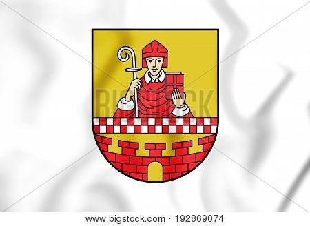 3D Flag Of Ludenscheid (north Rhine-westphalia), Germany.