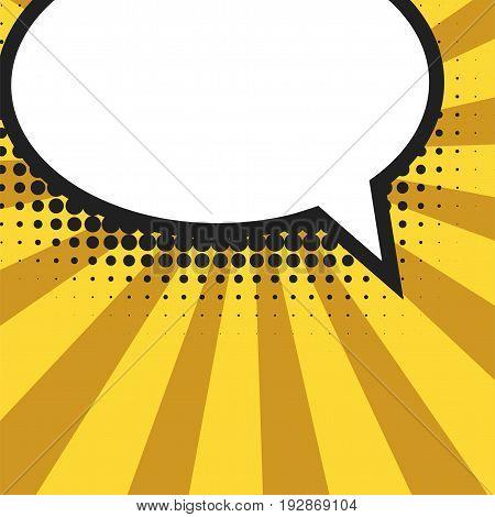 Blank comic balloon template. Clear comics colorful speech bubbles halftone dot background style pop art. Text dialog empty cloud creative idea conversation pattern sketch explosion