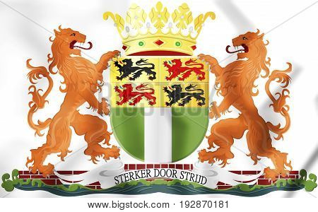 3D Rotterdam Coat Of Arms, Netherlands.