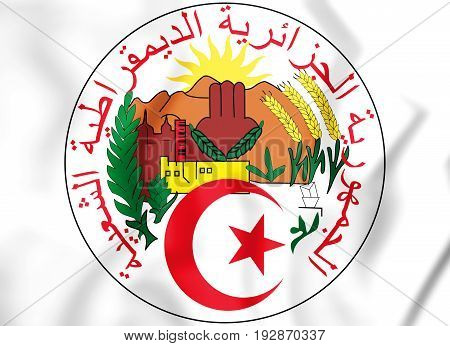 3D Seal Of The Algeria.