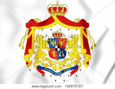 Principality Of Romania (1872-1881) Coat Of Arms.