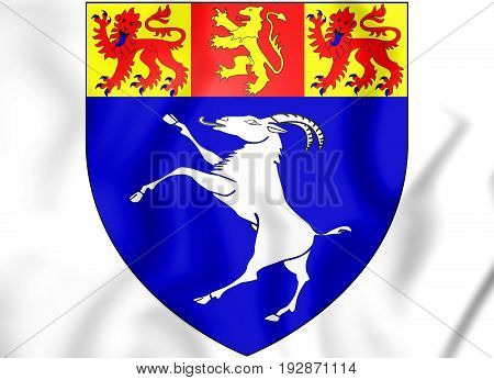 Gwynedd Coat Of Arms, Wales.
