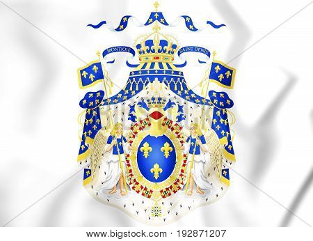 Royal Coat Of Arms Of France.