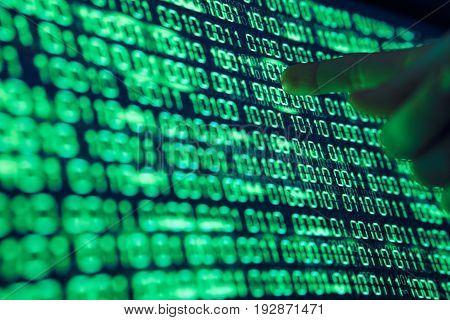 Binary system code, hard drive, programming, hacking, programmer.