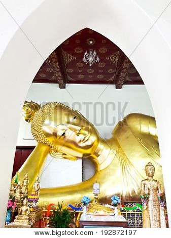Golden buddha at Nakhon Pathom in Thailand