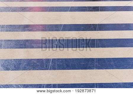 Reflective stripes on the asphalt of the airport landing stage
