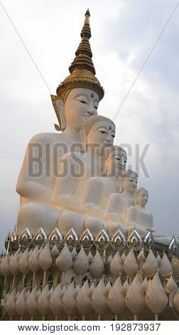 Phetchabun Thailand - April 62017: Wat Phra Thart Pha Kaew is a Buddhist monastery and temple in Khao Kor Phetchabun in north-central Thailand