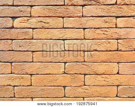 New red brick wall texture grunge background.