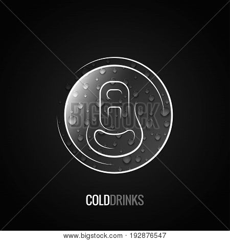 Aluminum can drink logo background 10 eps