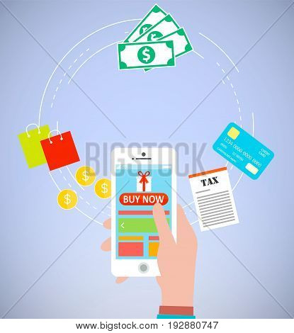 Pay per click with e commerce using smartphone