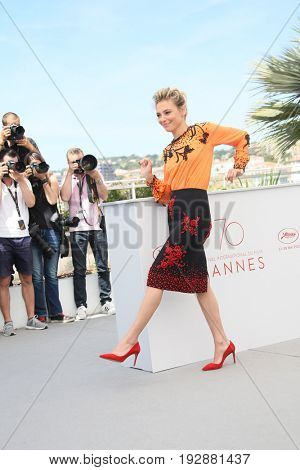 Jasmine Trinca attends the 'Fortunata' photocall during the 70th annual Cannes Film Festival at Palais des Festivals on May 21, 2017 in Cannes, France.