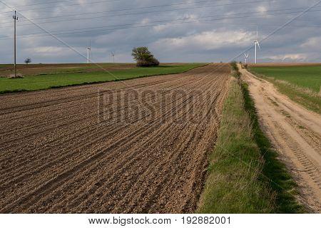 Landscape With Plowed Empty Field