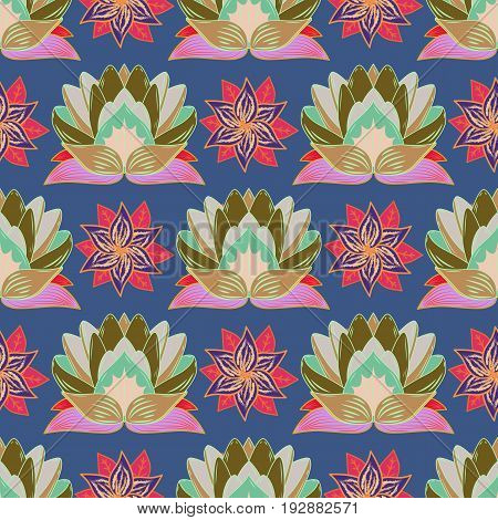 Floral seamless pattern with watercolor effect. Textile print for bed linen jacket package design fabric and fashion concepts. Abstract vector seamless pattern flower design in colors.
