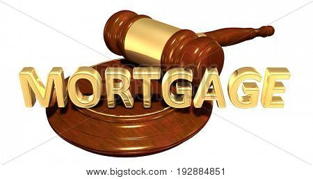 Mortgage Law Concept 3D Illustration