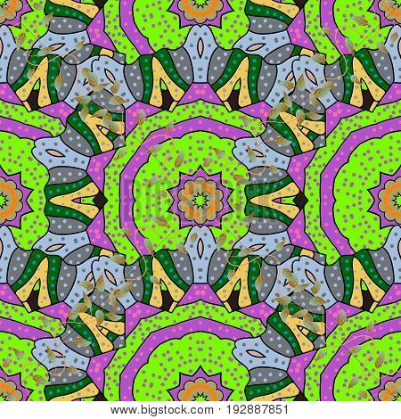 Intricate colored Arabesque with on a background. Vector abstract stylized colored mandala.