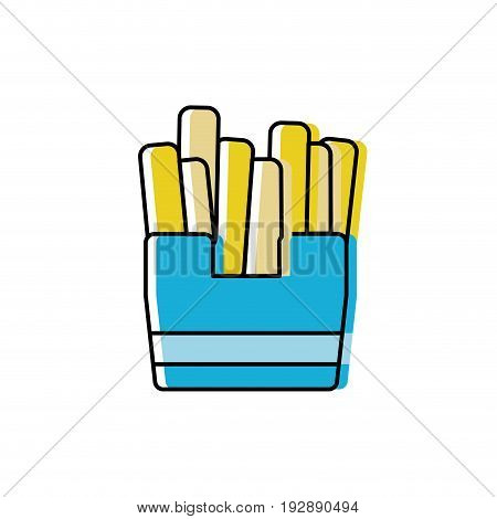 delicious fries french fast food vector illustration