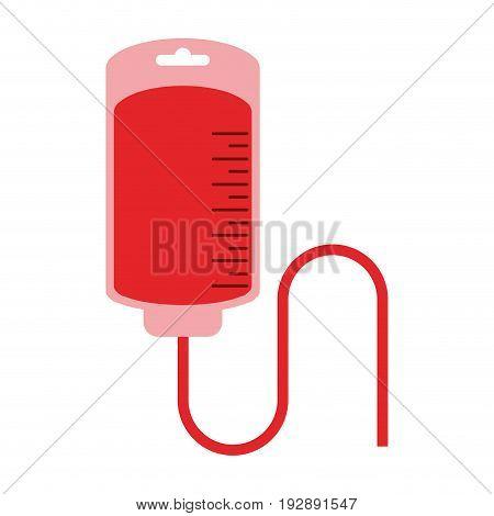 iv bag blood donation related icon image vector illustration design