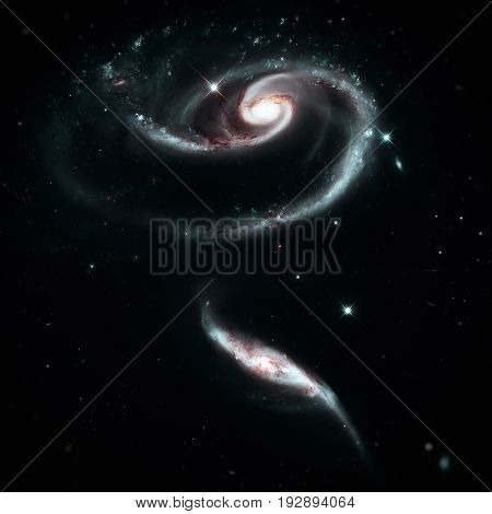 A Rose Made Of Group Of Galaxies Arp 273 In The Andromeda.