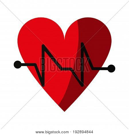 cartoon hear and cardiogram icon image vector illustration design