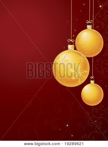 Vertical Gold Ornament Layout. Detailed background of swirls and filagree