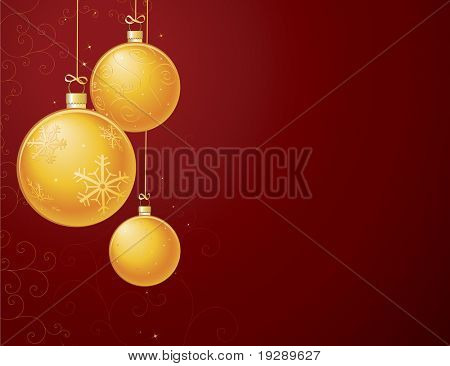 Horizontal Gold Ornament Layout. Detailed background of swirls and filagree